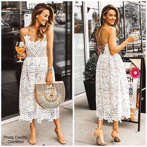Dresses & Skirts - 🆕Lace up back Crochet Dress
